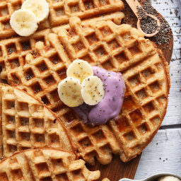 Coconut Yogurt Waffles (Vegan + GF)