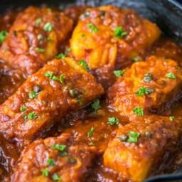 Cod Fish in Tomato Sauce