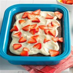 Cola Cake with Strawberries and Cream Recipe