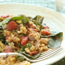 Collard Greens with Lentils, Tomatoes and Indian Spices