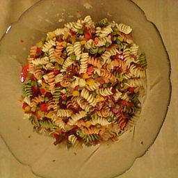 Colorful, hearty noodle salad