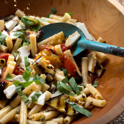 Cool Ziti With Eggplant and Tomatoes