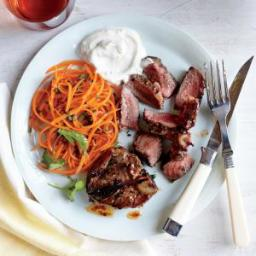 Coriander-Thyme Lamb Chops with Yogurt Sauce
