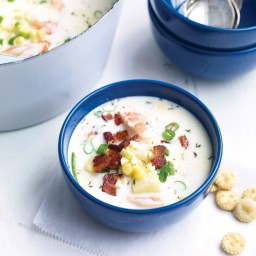 Corn-and-Shrimp Chowder with Bacon