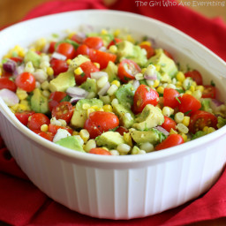 Corn, Avocado, and Tomato Salad