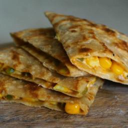 Corn Cheese Capsicum Paratha
