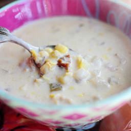 Corn Chowder W/ Chillies