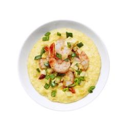 Corn Polenta With Shrimp