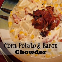 Corn, Potato and Bacon Chowder recipe
