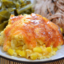 corn and cheddar pudding