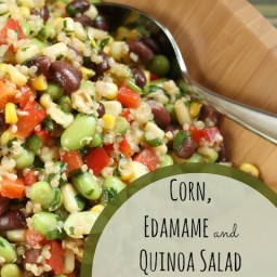 Corn, Edamame and Quinoa Salad with Lemon-Dijon Vinaigrette