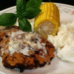 Country Fried Steak with White Gravy