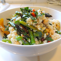 Couscous with Grilled Vegetables, Chickpeas & Feta