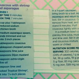Couscous with Shrimp and Asparagus