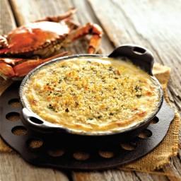 Crème de Brie Champagne and Crab Gratin