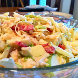 Crab And Apple Coleslaw
