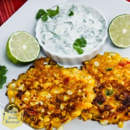 Crab And Lobster Cakes With Roasted Corn Relish And Mustard Cream