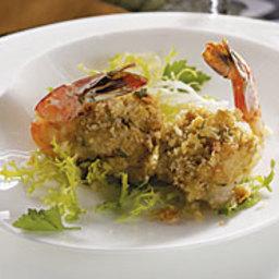 Crab and Scallion Stuffed Shrimp