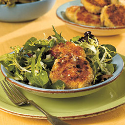 Crab Cakes With Greens