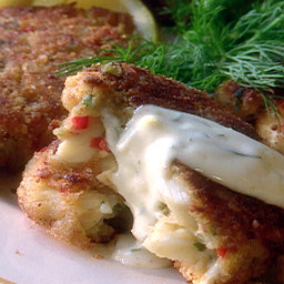 Crab Cakes with Lemon-Dill Sauce