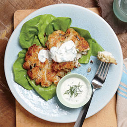 Crab Cakes with Buttermilk Ranch Dressing