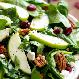 Cranberry Apple Pecan Salad with Creamy Poppyseed Dressing