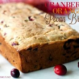 Cranberry Bread Recipe with Orange and Pecans