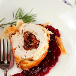 Cranberry, Goat Cheese and Wild Rice Turkey Wellingtons