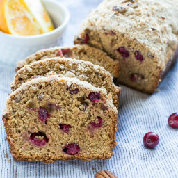 Cranberry Orange Bread with Pecans