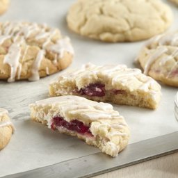 Cranberry-Stuffed Eggnog Cookies