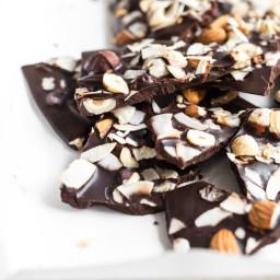 Crazy Good Coconut Oil Chocolate Bark