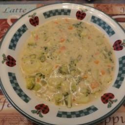 Cream of Broccoli Deluxe Soup