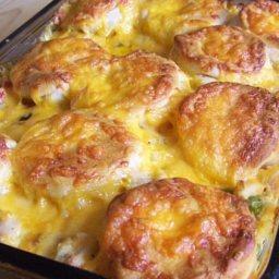 Creamed Chicken & Biscuits