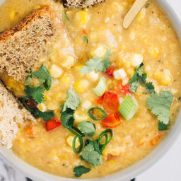 Creamy and Smoky Corn Chowder [Vegan, Gluten-Free]