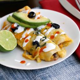 Creamy Black Bean Enchiladas