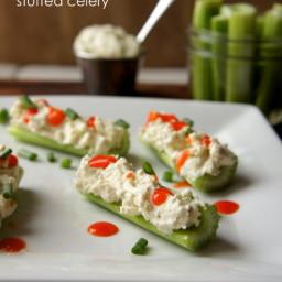 Creamy Buffalo Blue Cheese Stuffed Celery