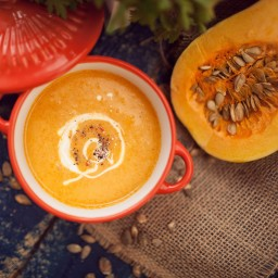 Creamy Butternut Squash and Roasted Pear Soup