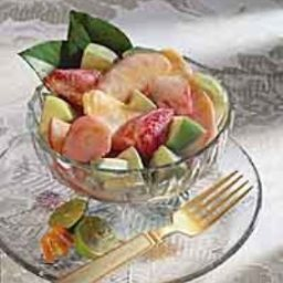 Creamy Fruit Salad with fresh Basil