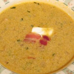 Creamy Green Bean and Bacon Soup