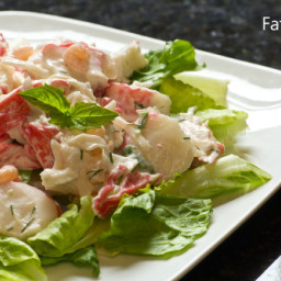 Creamy Lemon-Lime Crab Salad