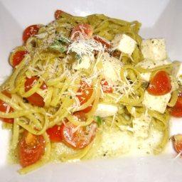 Creamy Lemon Spaghetti with Olives and Basil