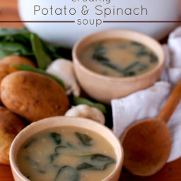 Creamy Potato and Spinach Soup
