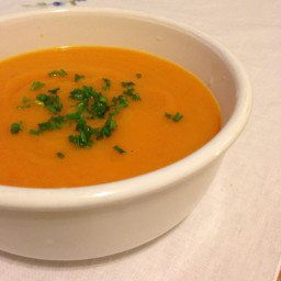 Creamy Pumpkin and Carrot Soup with Chives