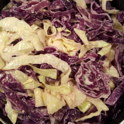 Creamy Red And Green Cabbage
