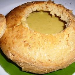 Creamy Split Pea and Garbanzo Soup