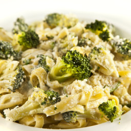 Creamy Tahini and Broccoli Pasta
