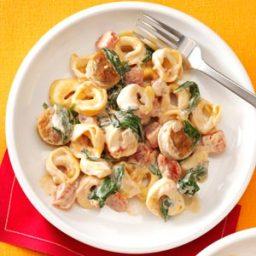 Creamy Tomato Tortellini with Sausage Recipe