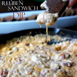 Creamy Hot Reuben Sandwich Party Dip