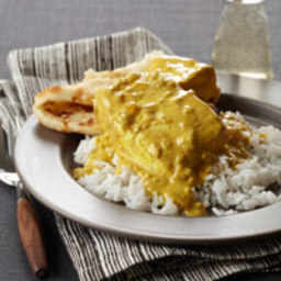 Creamy Indian-Spiced Halibut Curry