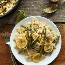 Creamy Vegan Lemon Asparagus Pasta